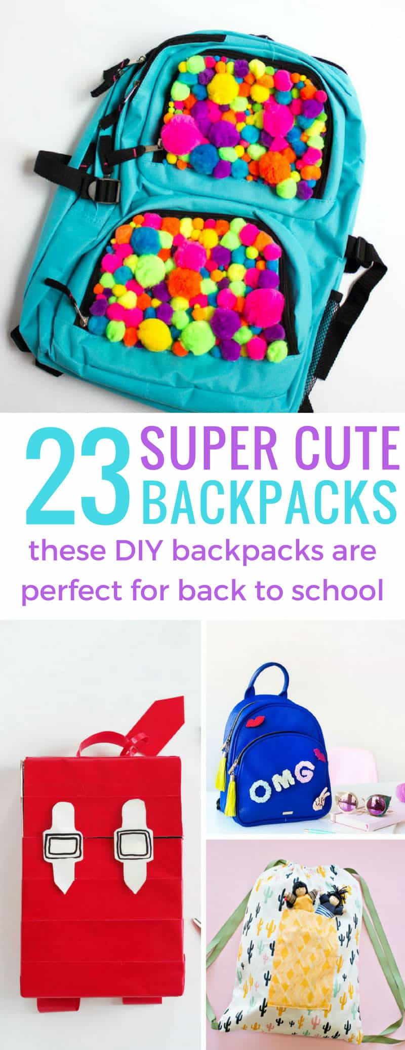 These DIY backpacks are super cute and perfect for back to school!