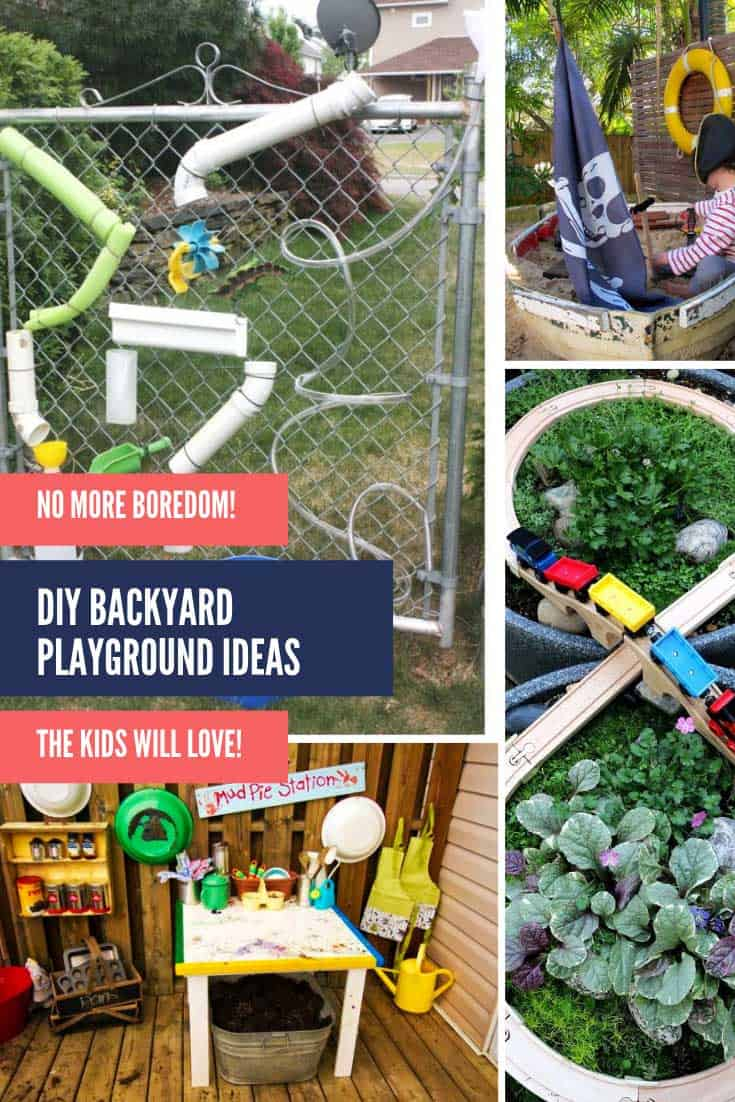 Oh my goodness these DIY backyard playground ideas are seriously genius and they're not too expensive to make either!