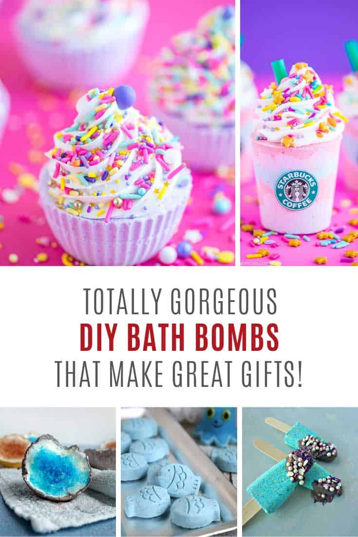 These DIY Bath Bombs make FABULOUS gifts!