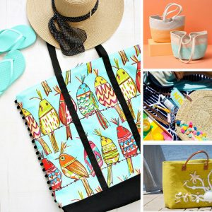 These DIY beach tote bags are fabulous! Thanks for sharing!