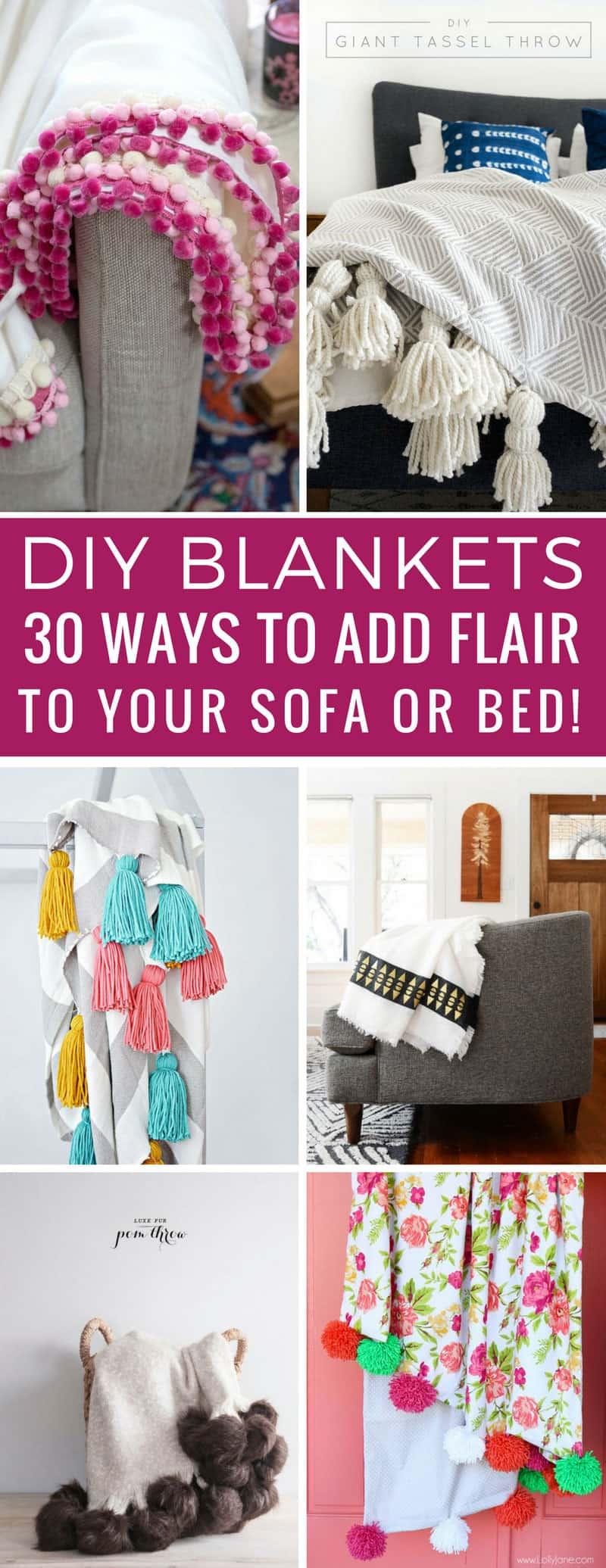 Oh my goodness these homemade blanket ideas are easy and so much cheaper than the ones in the store! Thanks for sharing!