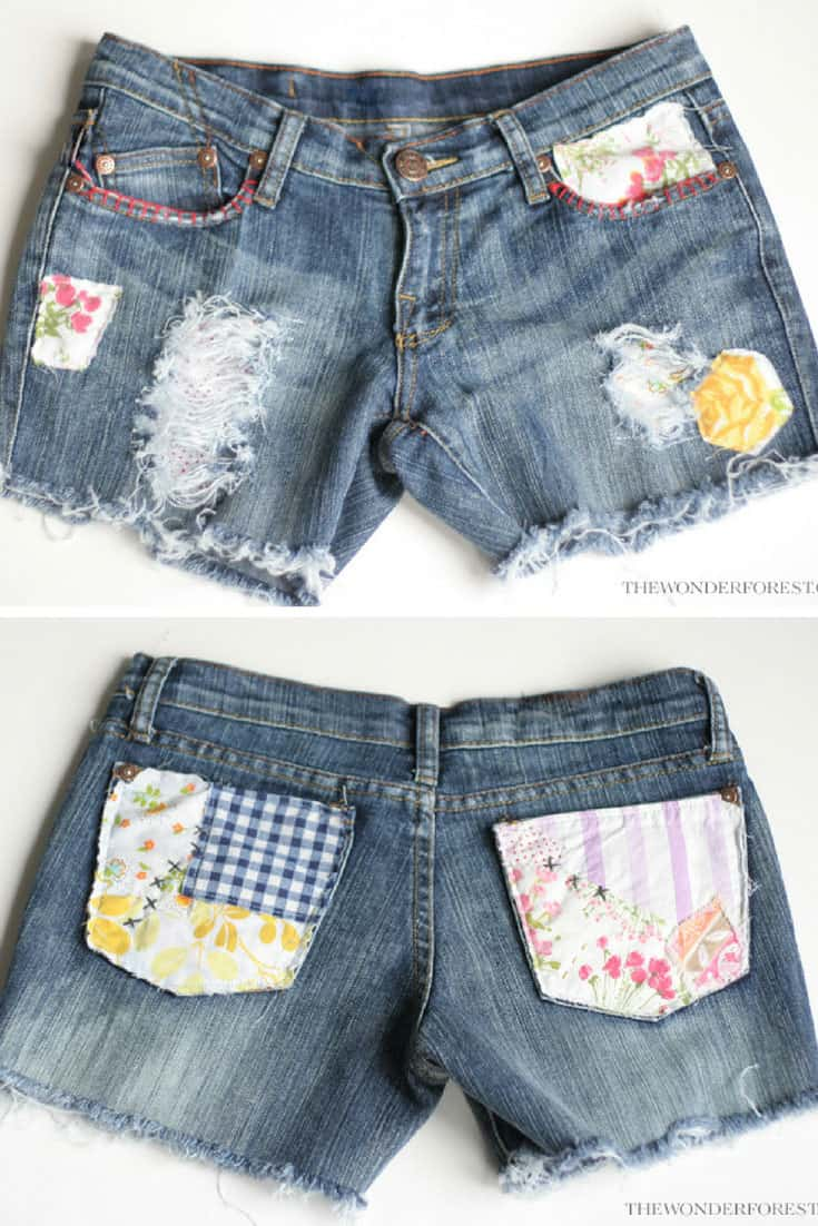 DIY Boho Patchwork Shorts