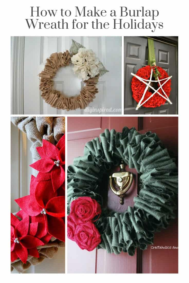 These DIY burlap wreath ideas are perfect for any time of year. Take one wreath and then dress it up for each Holiday! Can't wait to try the Christmas ideas!