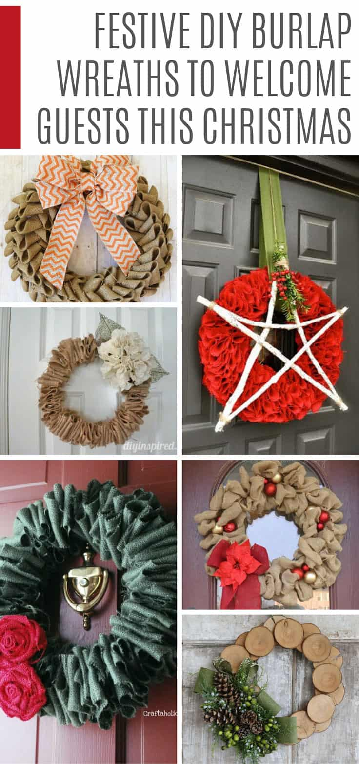 OOh how fabulous are these DIY burlap wreaths! And so easy to make too! I love how you can take just one wreath and dress it up all year round for Spring through to Christmas!