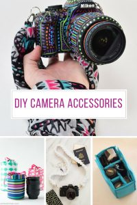 Loving these DIY camera accessories - especially that scarf strap!