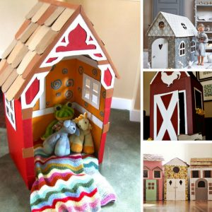 WOW these DIY cardboard playhouses are brilliant!