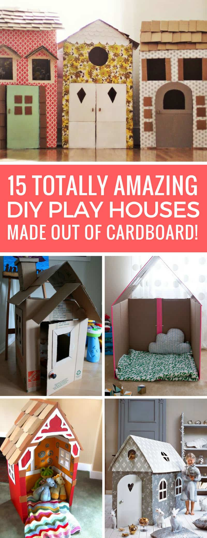 15 amazing diy cardboard playhouses your kids will want to for Mini tin mailboxes for crafts