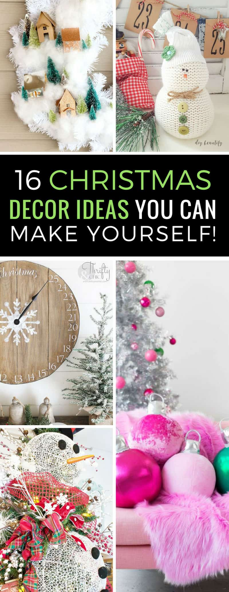 Want to festive up your home this Christmas with items you can make yourself? These DIY Christmas decor ideas are sure to impress your guests! | Christmas Decor | DIY | Crafts | Decorations | Just Bright Ideas