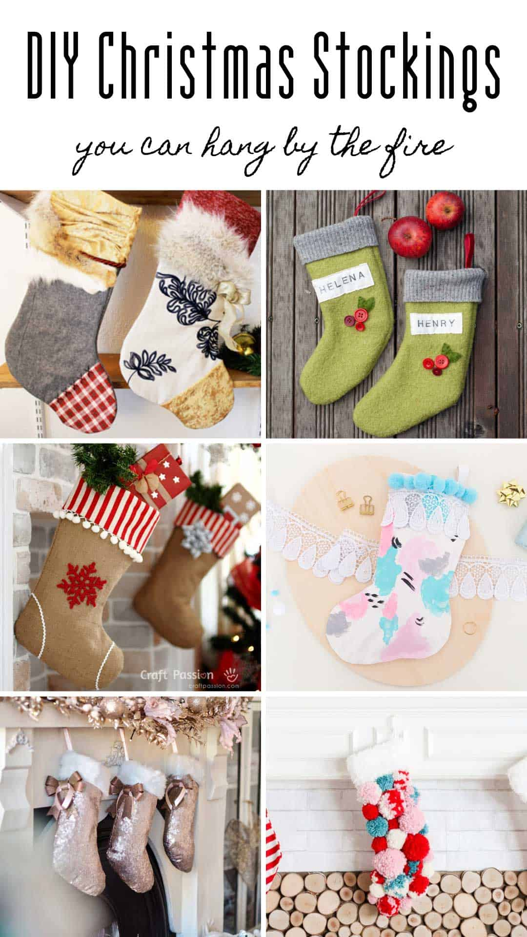 Festive up your fireplace with these DIY Christmas stockings - homemade gifts for all the family!