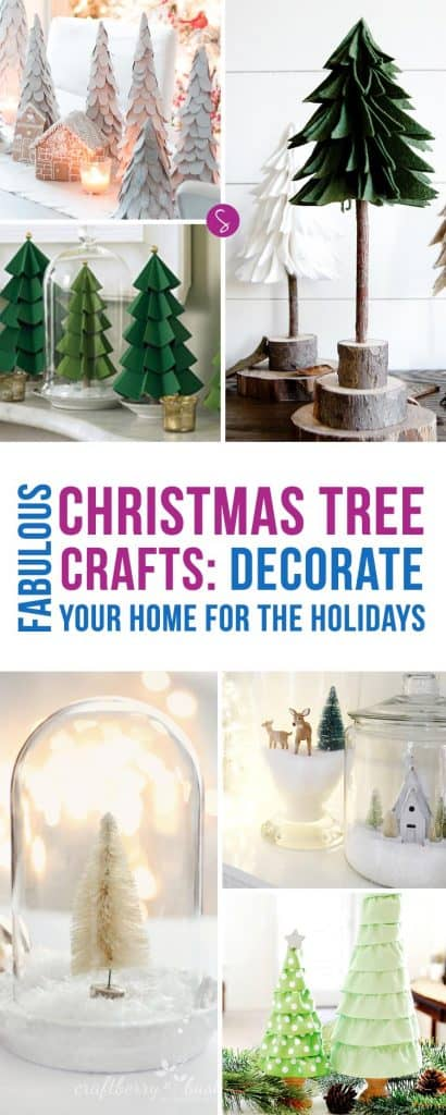 Oh my! These Christmas tree crafts are STUNNING! Can't wait to decorate my home for the Holidays!