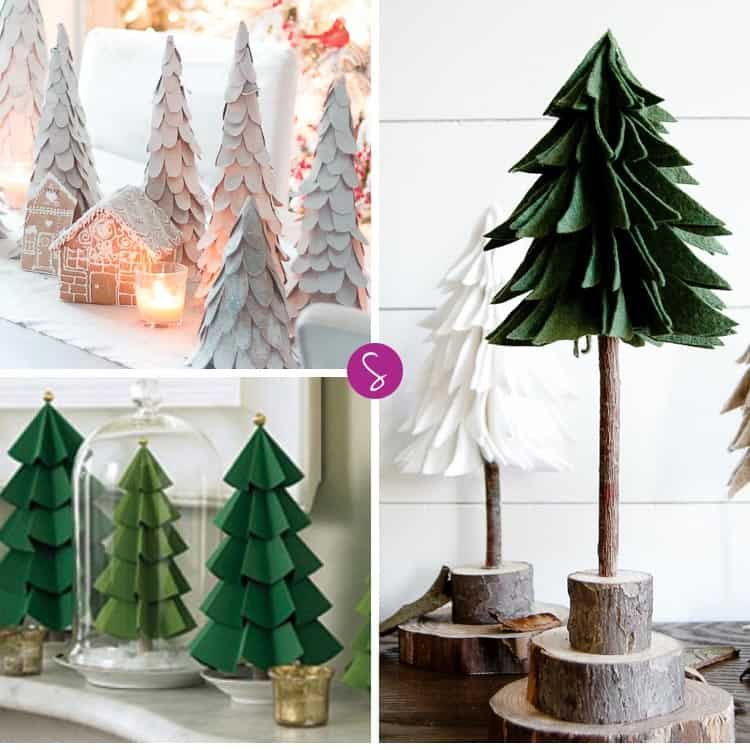 GORGEOUS! Can't wait to make these Christmas tree crafts for the Holidays!