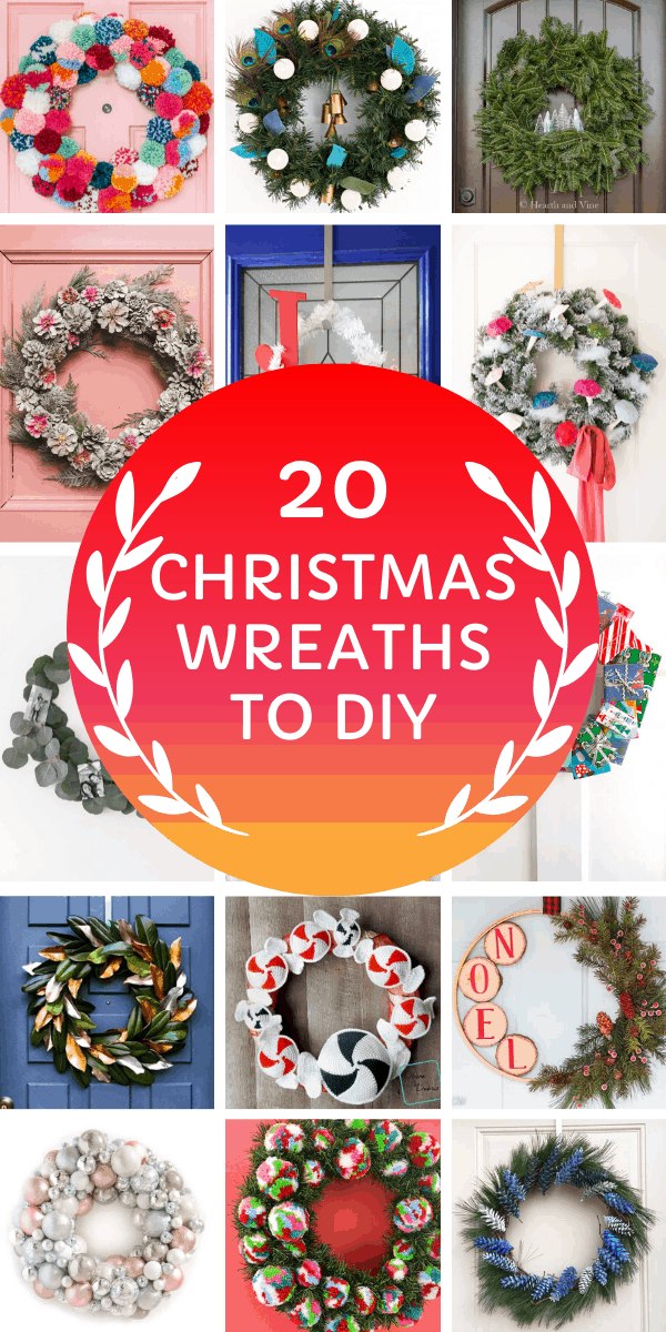 Loving these DIY Christmas wreath projects - so many ways to decorate your front door for the Holidays!