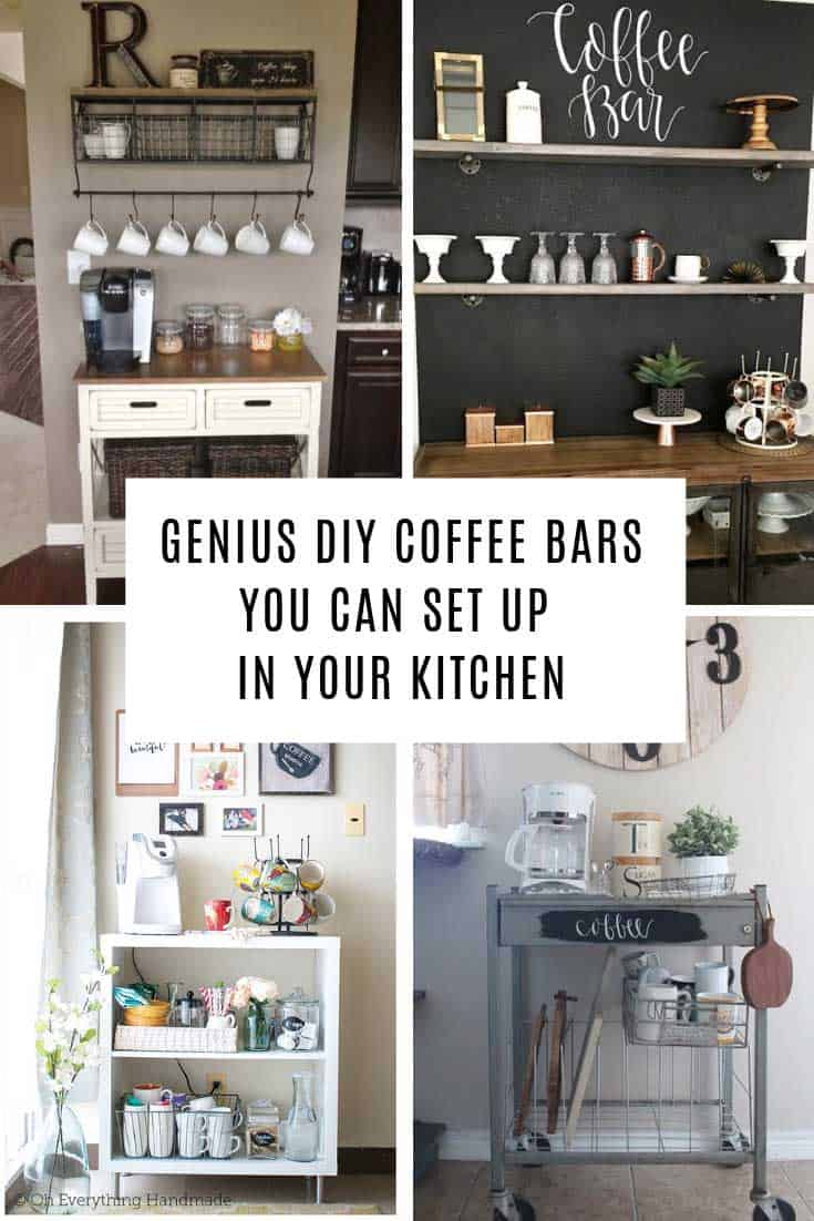 These coffee station ideas for the home are simply GENIUS! From countertop to trolley there are ideas here for kitchens of all sizes!