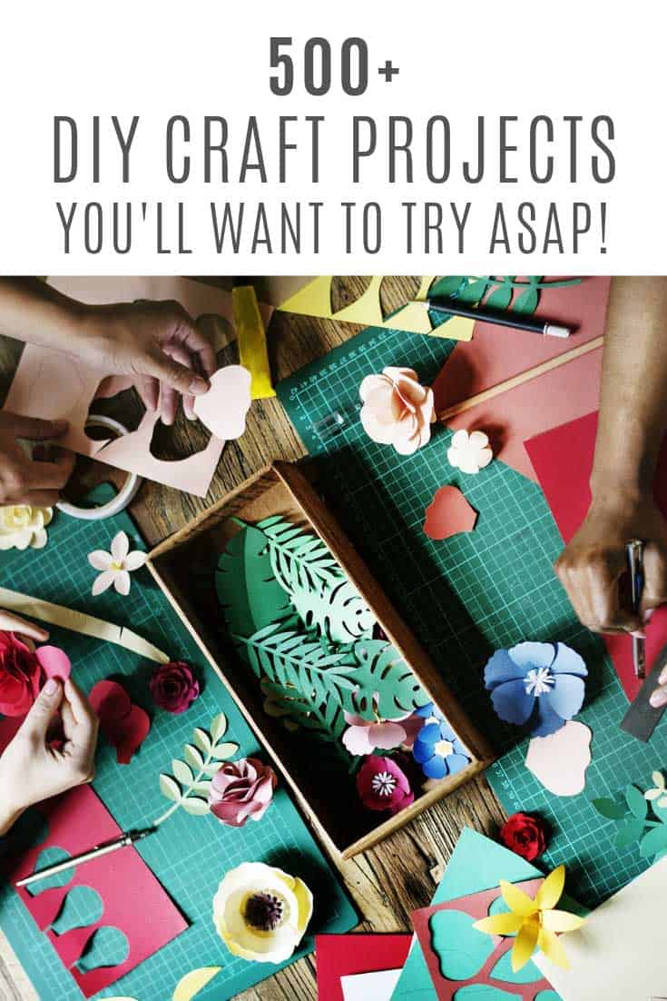 So many fabulous DIY craft ideas in this list!
