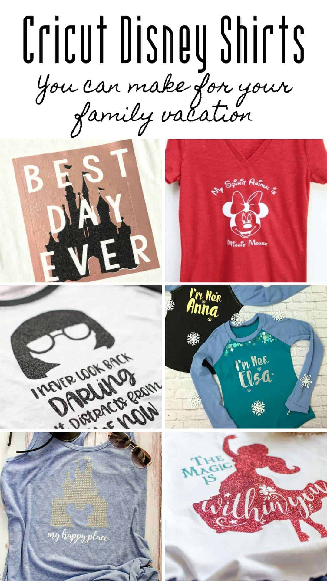 If you're looking for SVG files to make Silhouette or Cricut Disney Shirts you're in luck because we've got the best ones here!