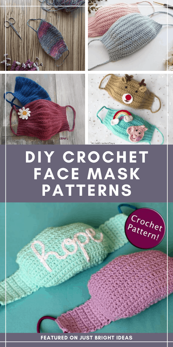 These DIY face masks are made using easy to follow crochet patterns. Note that they are not medical grade nor designed or intended to mitigate, prevent, treat, diagnose or cure any disease or health condition.