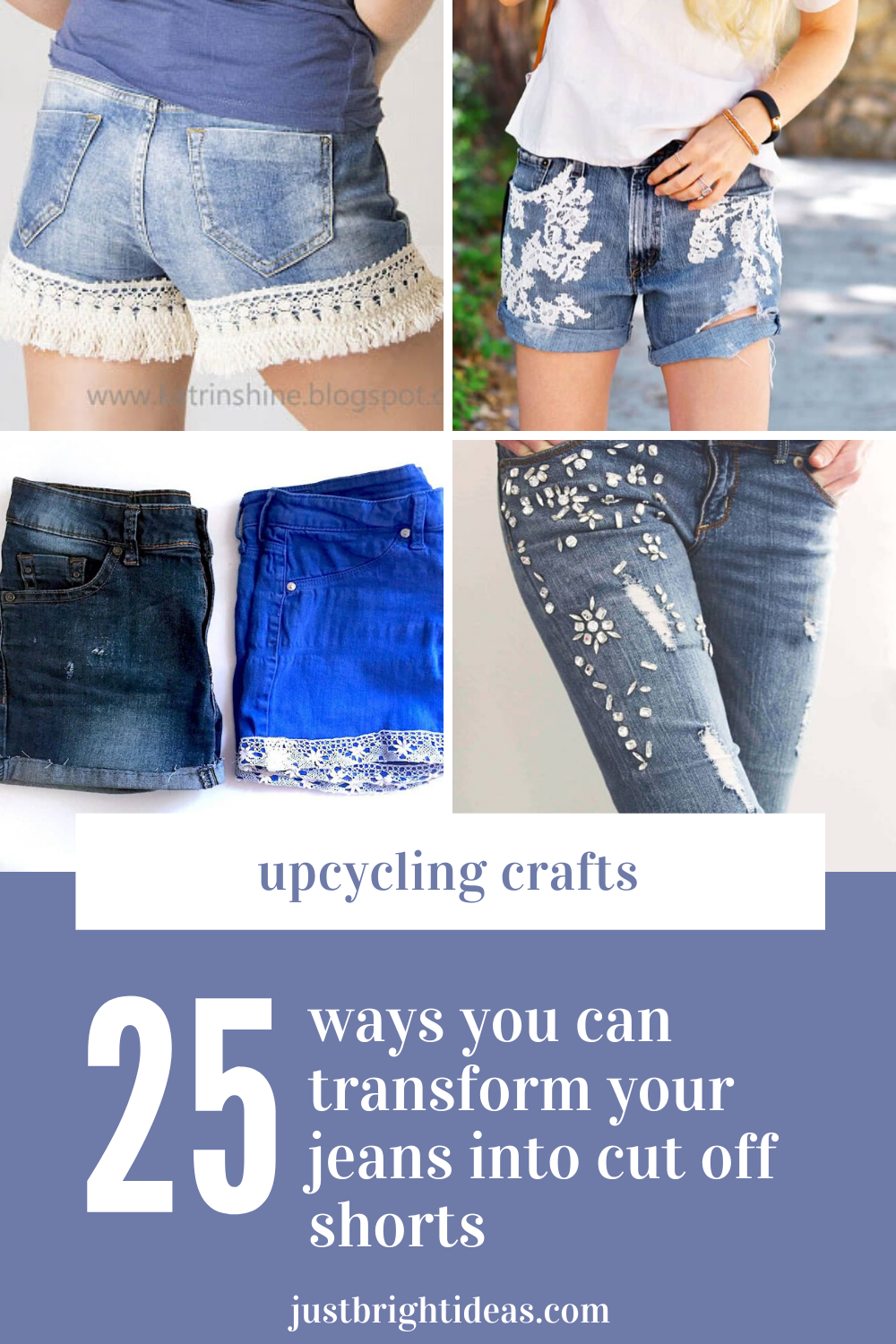 It's time to make do and mend - by upcyling your old worn out jeans into DIY cut off shorts