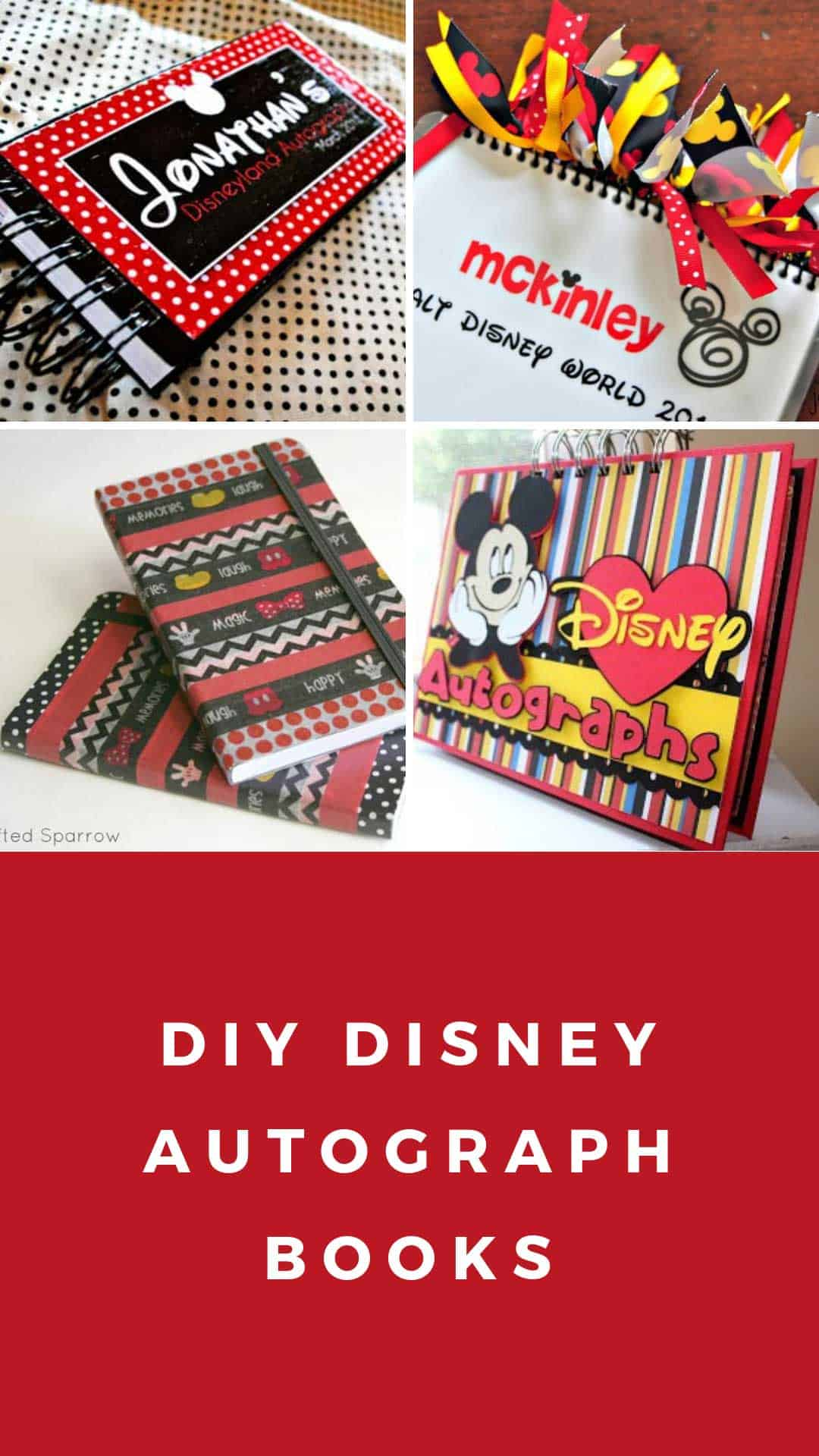 It's just a graphic of Printable Disney Autograph Book in blank template