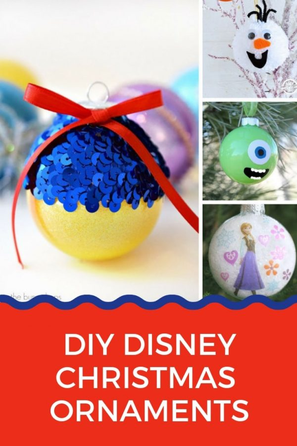 Love love love these Disney Christmas ornaments you can DIY this weekend! Go on - add some Disney inspired magic to your tree!