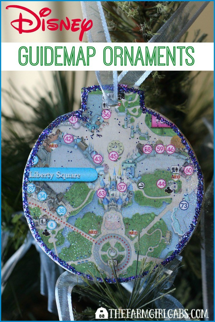 DIY Disney Christmas Ornaments from Guidemaps