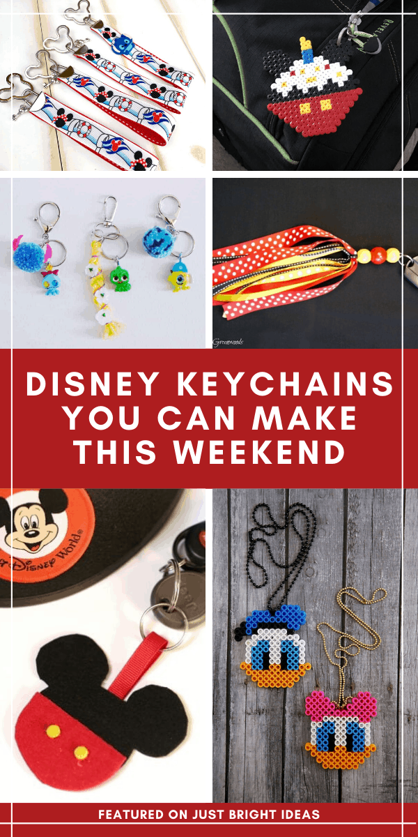 Totally making these DIY Disney keychain ideas this weekend!