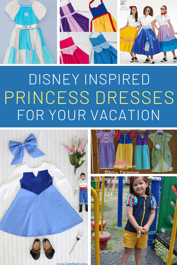 How sweet are these DIY Disney princess dresses!