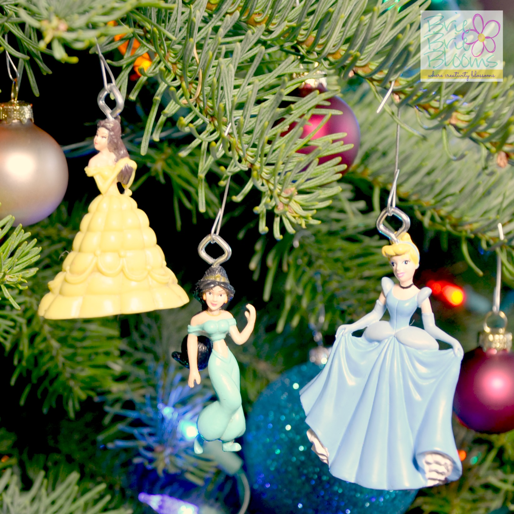 diy disney princess ornaments - Disney Christmas Tree