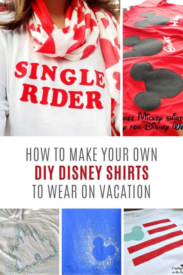 These DIY Disney shirts are PERFECT for your next vacation!