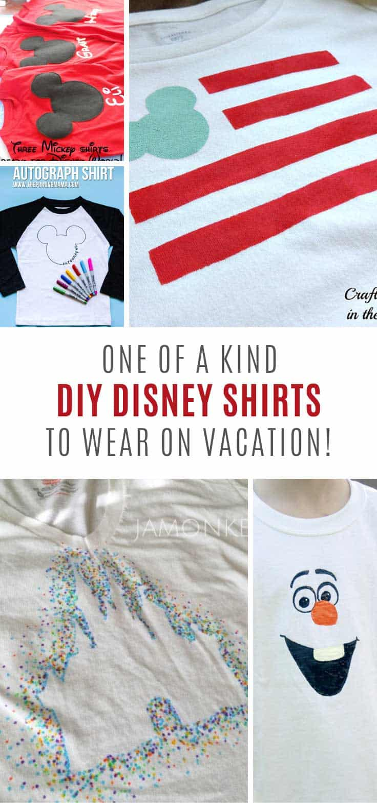 Ooh Adorable DIY Disney shirts and no cricut needed to make them!