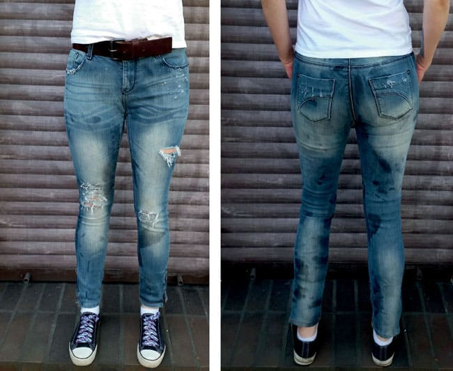 DIY Distressed Denim Jeans