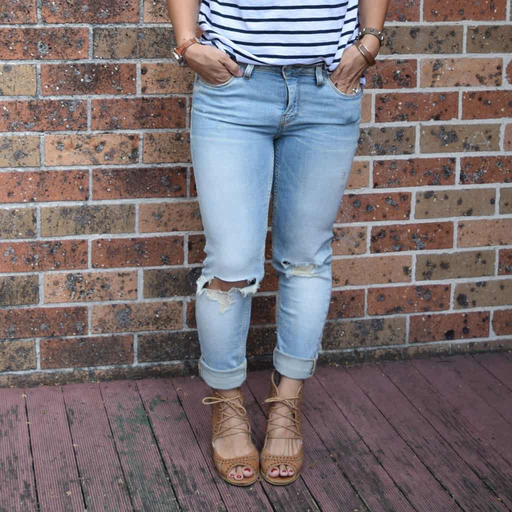 DIY Distressed Skinny Jeans