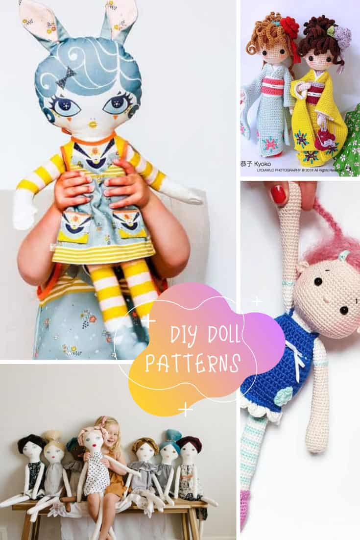 These DIY doll patterns are going to make fantastic Christmas gifts for the kids on my list! #christmas #diy #doll