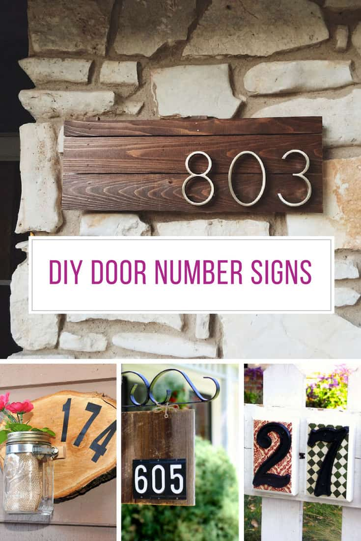Loving these DIY door number signs! Thanks for sharing!