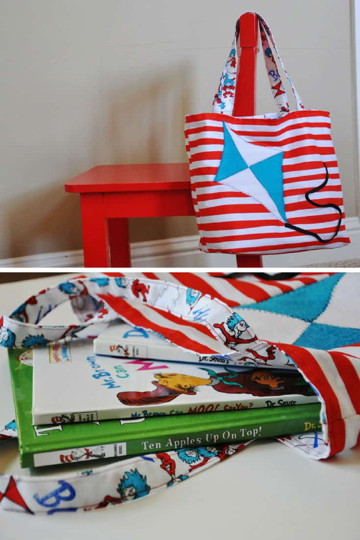 DIY Dr Seuss Book Bag