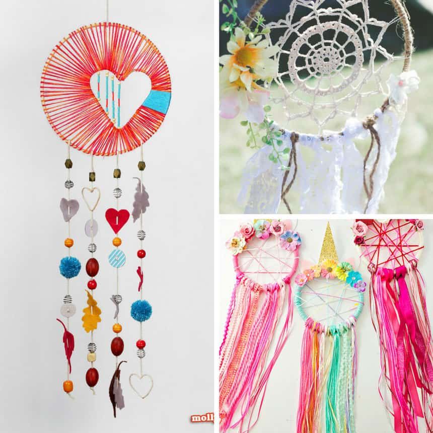 DIY Dream Catchers - How to Make a Dreamcatcher photo collage