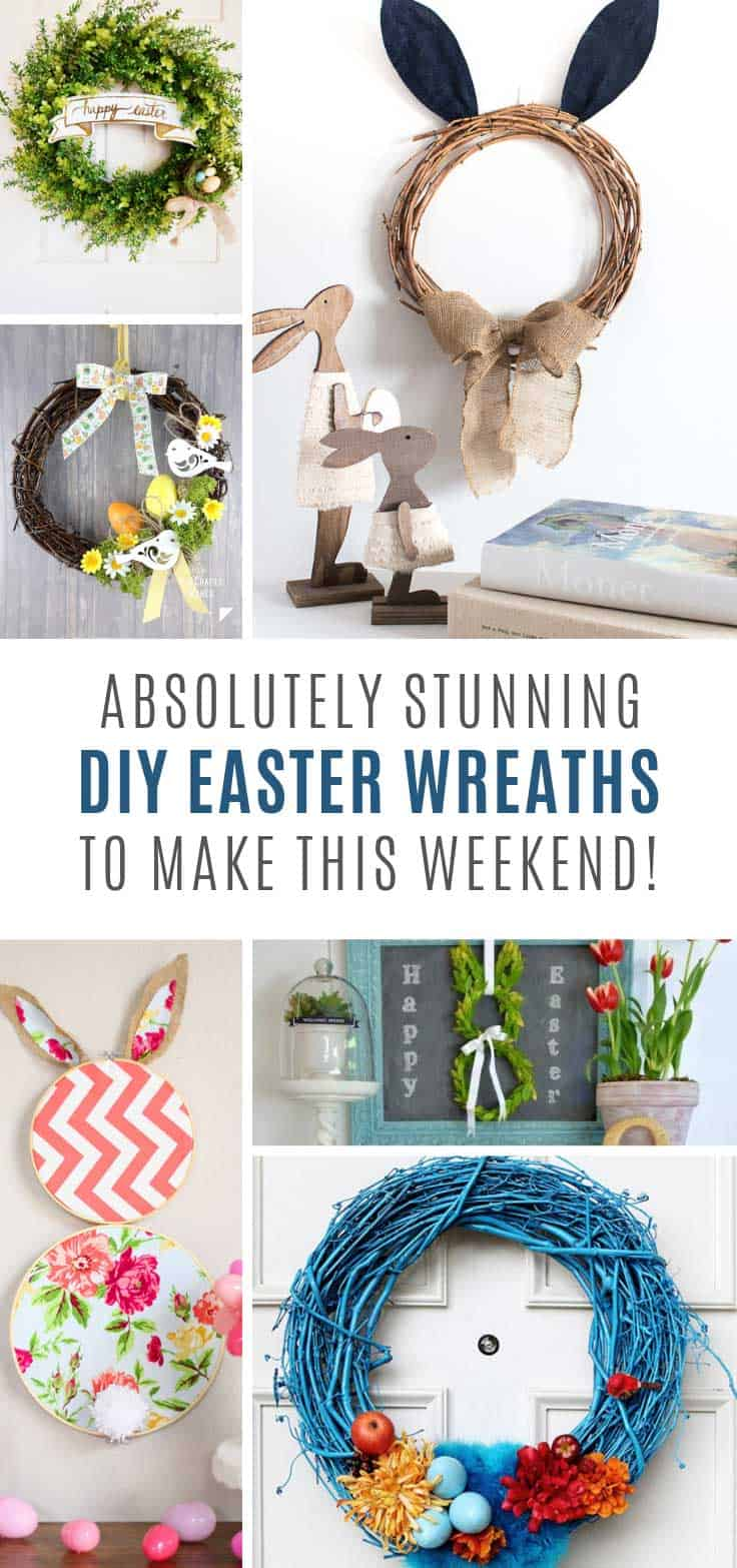 These DIY Easter wreaths are simply GORGEOUS!