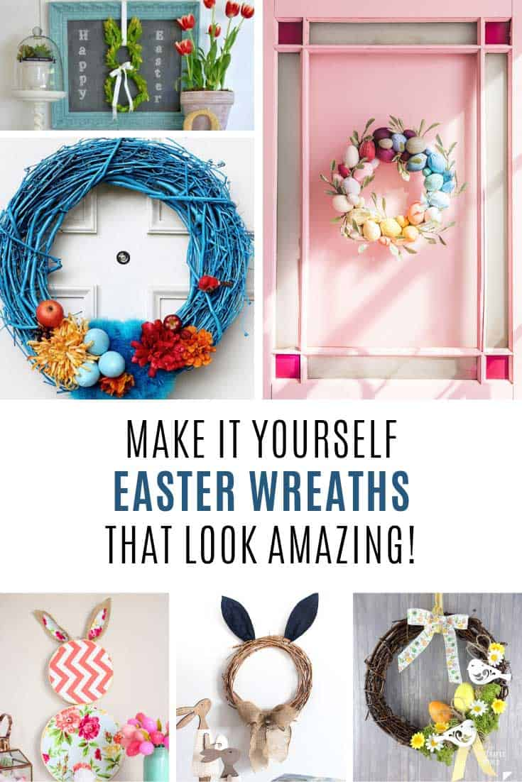 LOVE these DIY Easter wreaths! So pretty!