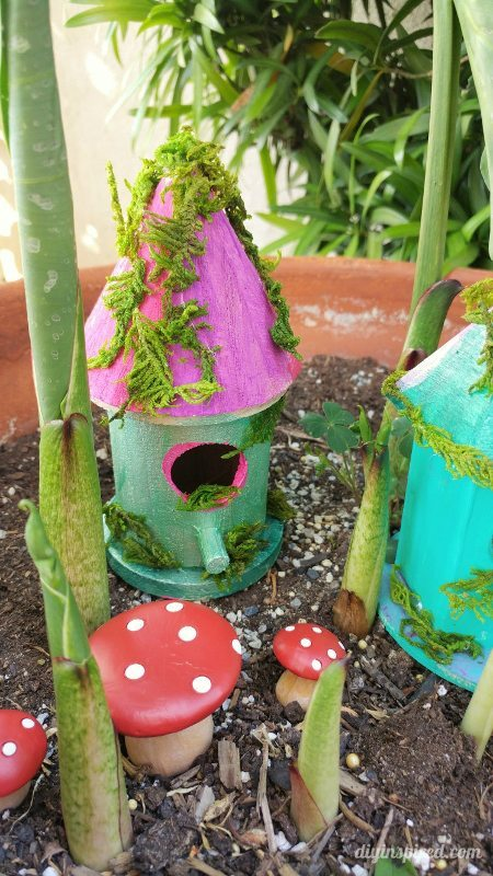 Turn A Wooden Bird House Into A Fairy House