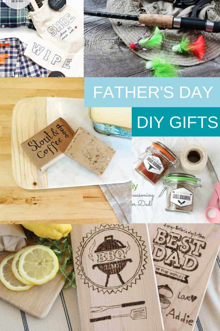 So many great DIY Father's Day gifts here. For the grilling dad, the stylish dad and the fishing dad!