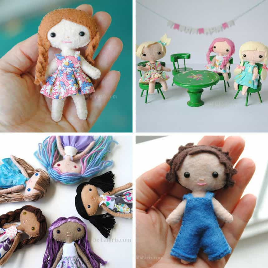 DIY Felt Doll Sewing Pattern