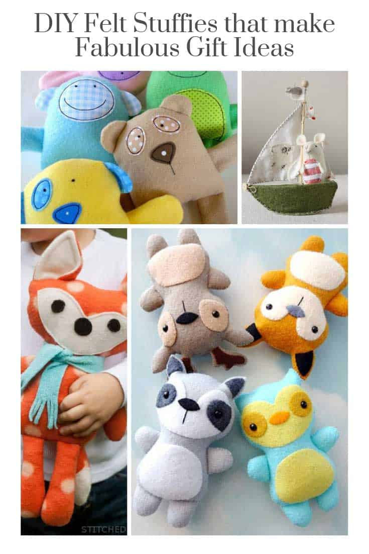 OMG these DIY felt stuffed toys are so CUTE! I'm going to make a ton of these for Christmas gifts for the kids!