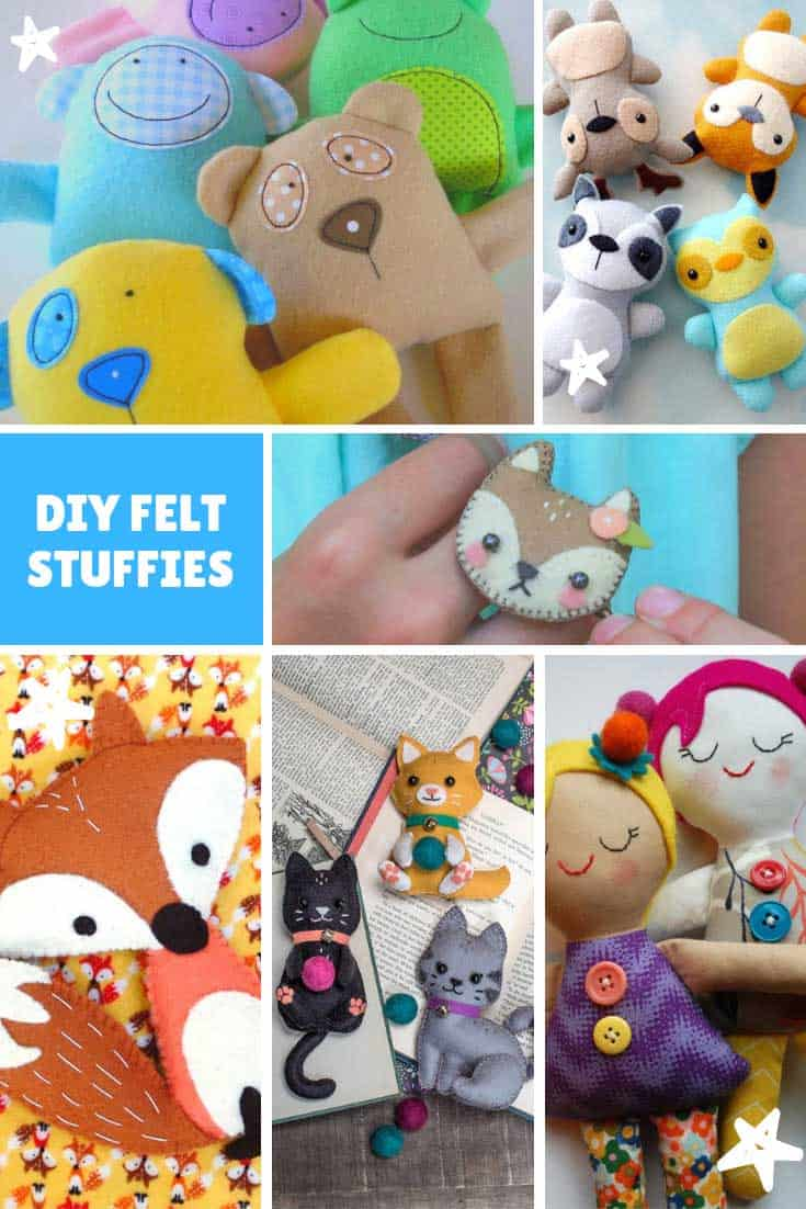 Oh how CUTE are these DIY felt stuffies! So many different animals and toys here the kids will go crazy over them!