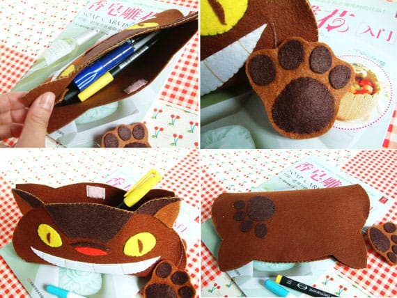 DIY Felt Totoro Pen Bag Pattern
