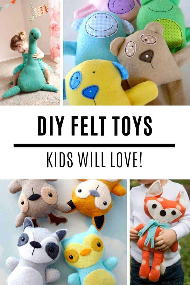 Totally in love with these DIY felt toys patterns and your kids will be too!