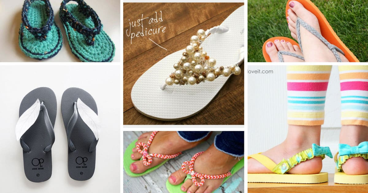 26 brilliantly easy diy flip flop makeovers you have to try for Flip flop storage ideas