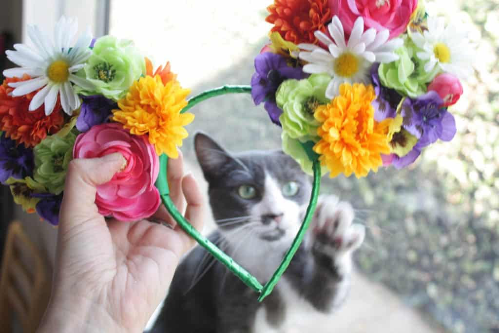 DIY Floral Mouse Ears