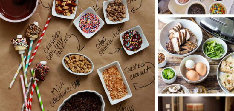 These DIY food stations ideas are genius! I love the waffle bar idea!