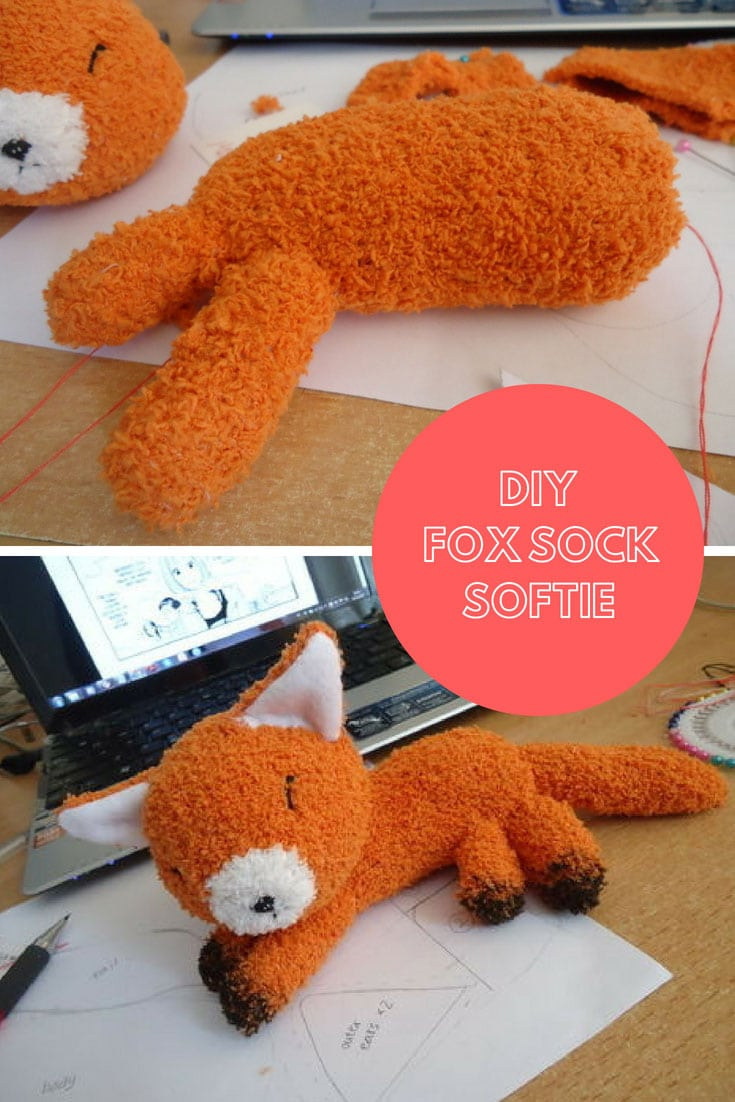 DIY Fox Sock Softie