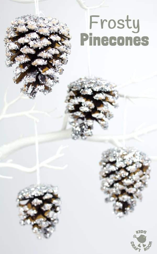 DIY Frosty Pinecones