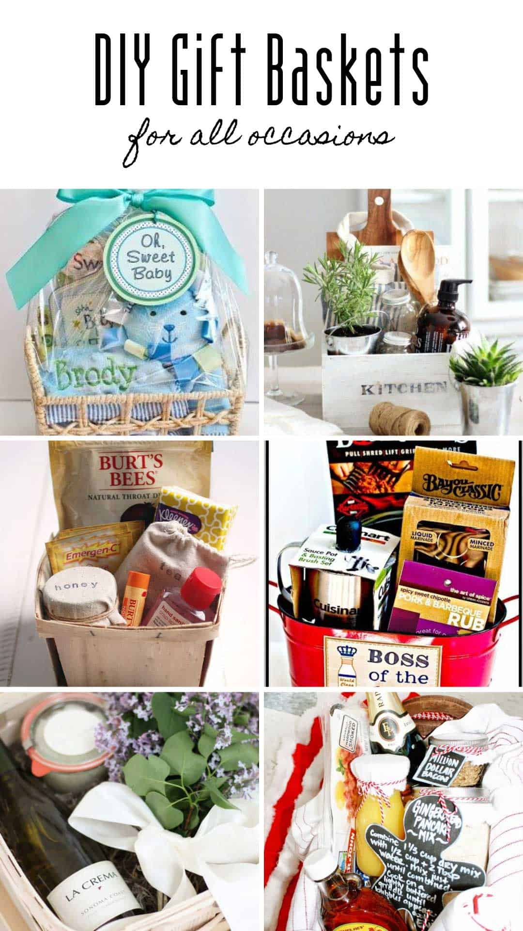 Loving these DIY gift baskets! So many unique ideas for every possible occasion - they'd be perfect for your fundraiser!